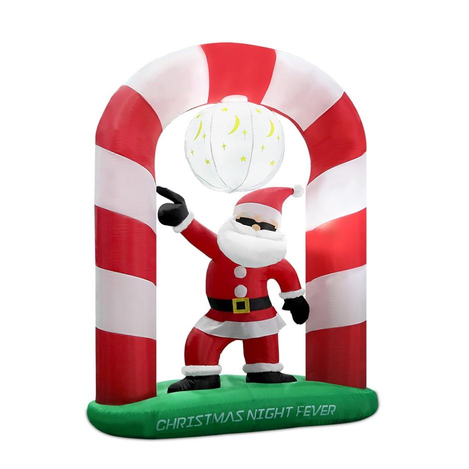 Jingle Jollys 2.4m Christmas Inflatable Disco Santa Lights Xmas Decoration