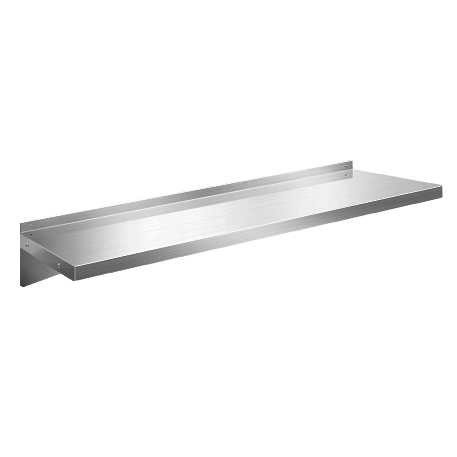Cefito Stainless Steel Wall Shelf Kitchen Mounted Display Shelving 1200mm