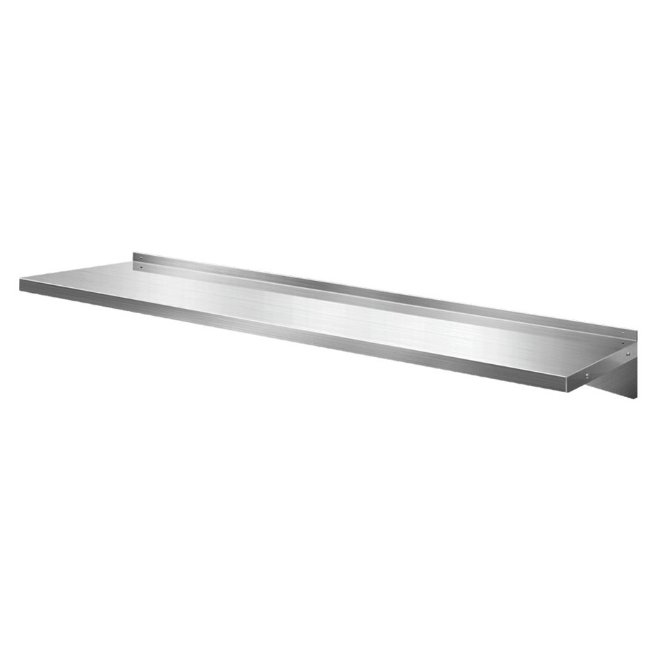 Cefito Stainless Steel Wall Shelf Kitchen Mounted Display Shelving 2100mm