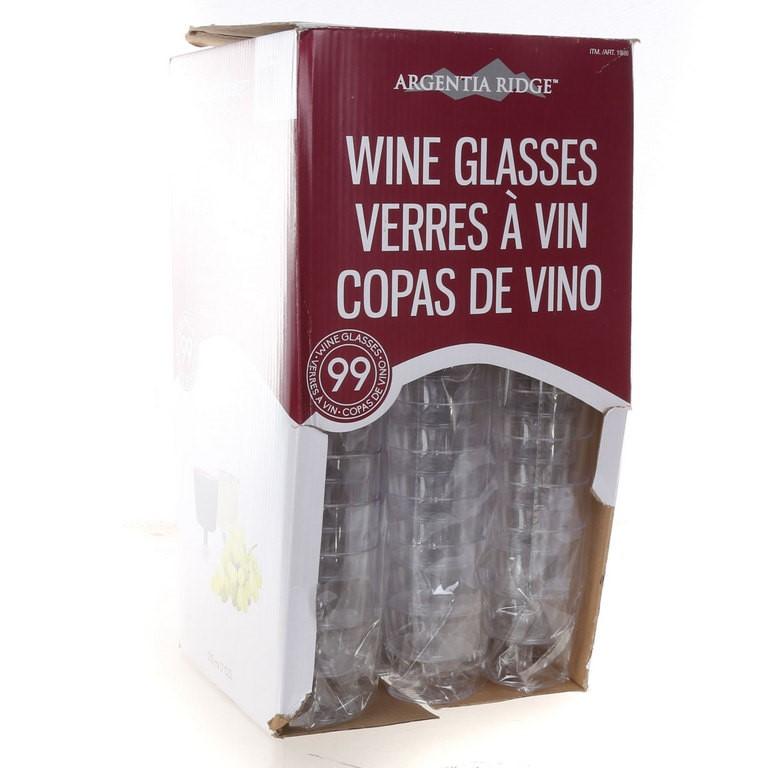 275 x ARGENTIA RIDGE Plastic Wine Glasses 7oz. (SN:CC43677) (266643-335)