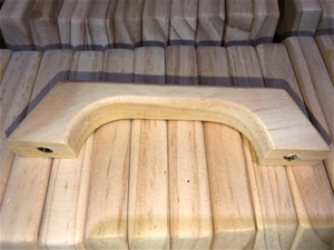 500 x Solid Pine Timber Handles, 120mm,