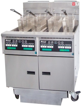 PITCO 2 PAN GAS DEEP FRYER WITH INBUILT FILTERATION SYSTEM