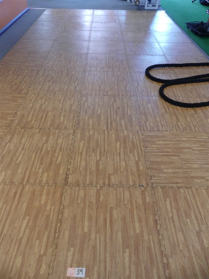 Qty 6 x Cushioned Flooring Tiles for Exercise Room