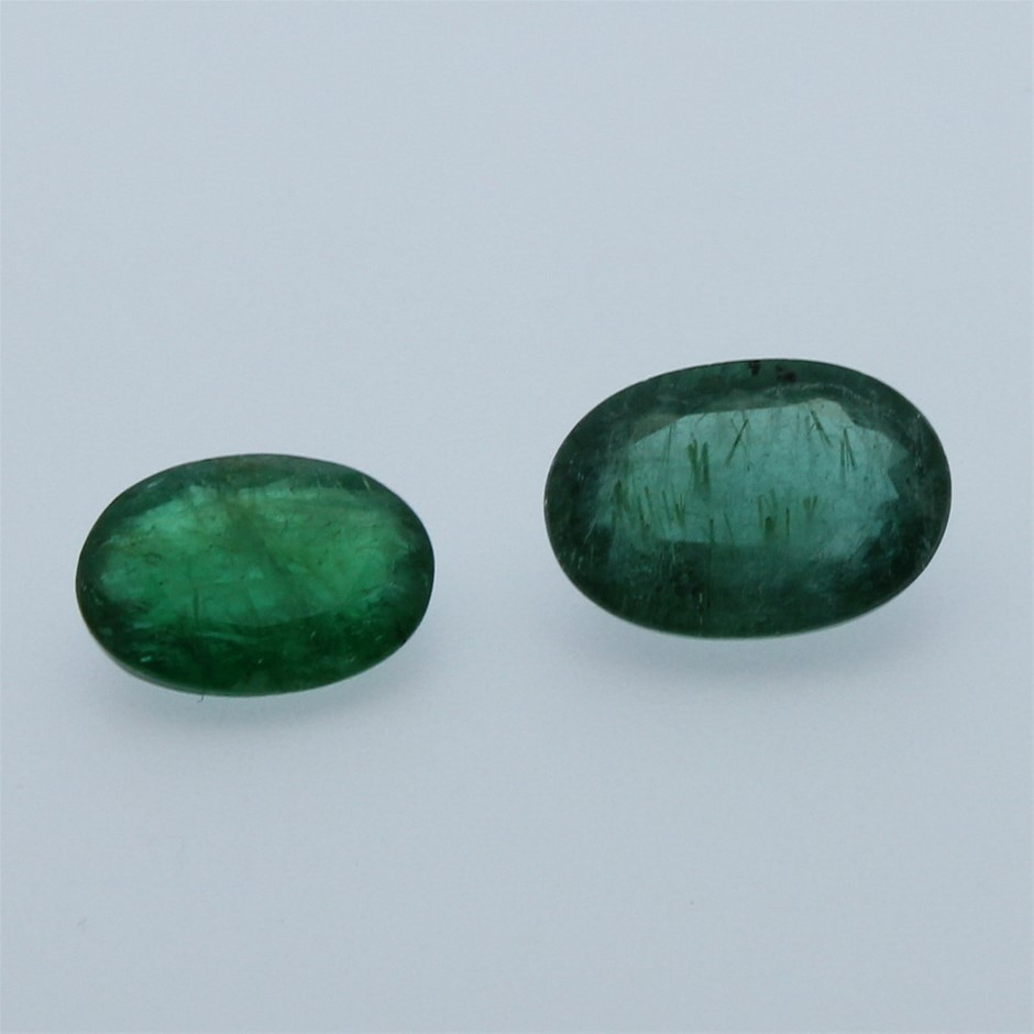 Two Loose Emerald 6.35ct in Total