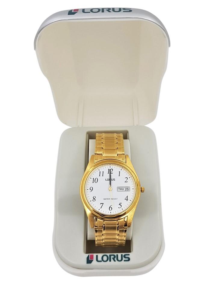 Lorus Gold Tone Gents Dress Watch