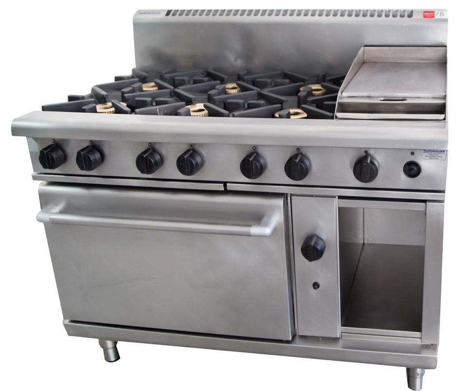 Waldorf Gas 8 Burner Stove - Comprising of: