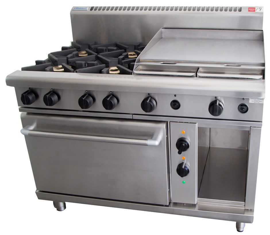 Waldorf Gas 8 Burner Stove with Electric Fan Forced Convection Oven Under