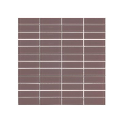 Cotto Grey Stack Bond Porcelain Mosaic Tiles 22x73mm On Sheets, 7.74m²