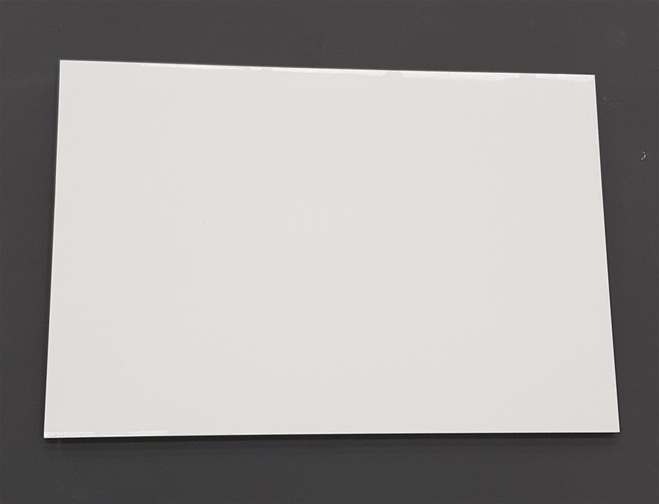Gloss White Rectified 30x45cm Ceramic Wall Tiles, 87.48m², 1350Kg