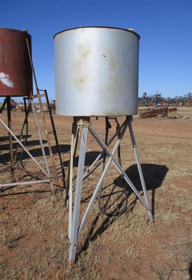 Steel Fuel Tank on Steel Stand