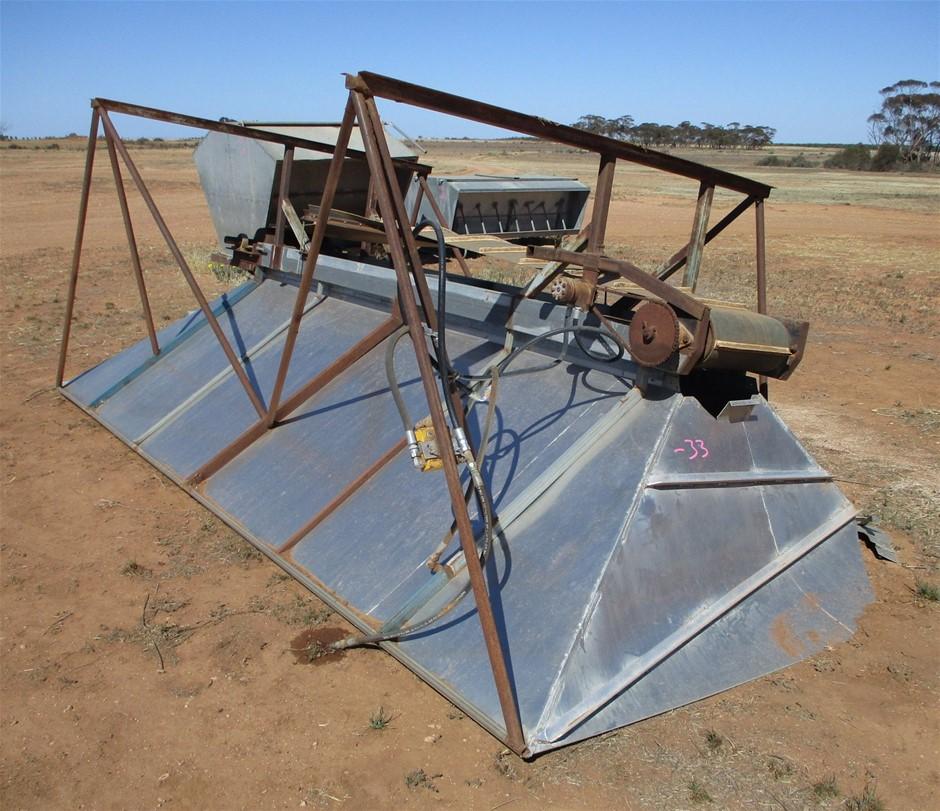 Aluminium Hopper on Steel Frame with Conveyor