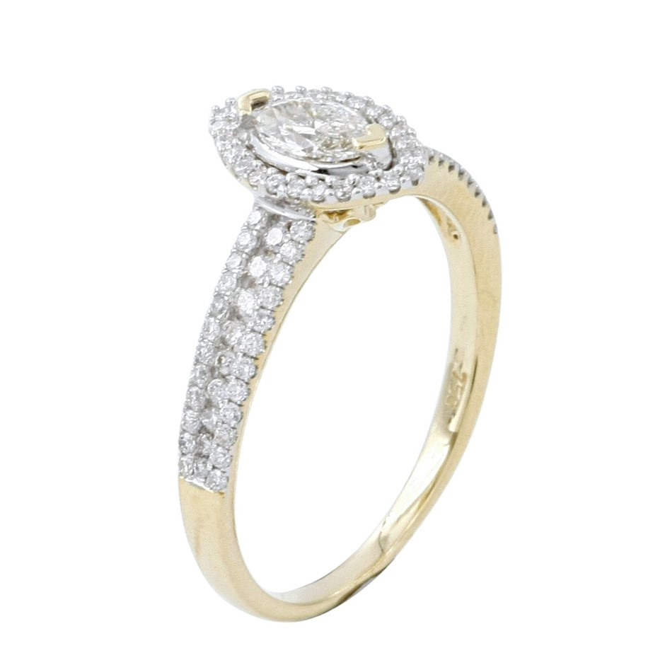 18ct Yellow Gold, 0.59ct Diamond Ring