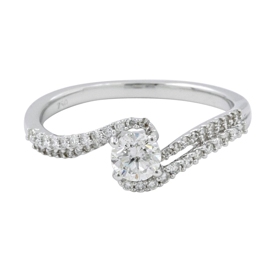18ct White Gold, 0.61ct Diamond Engagement Ring