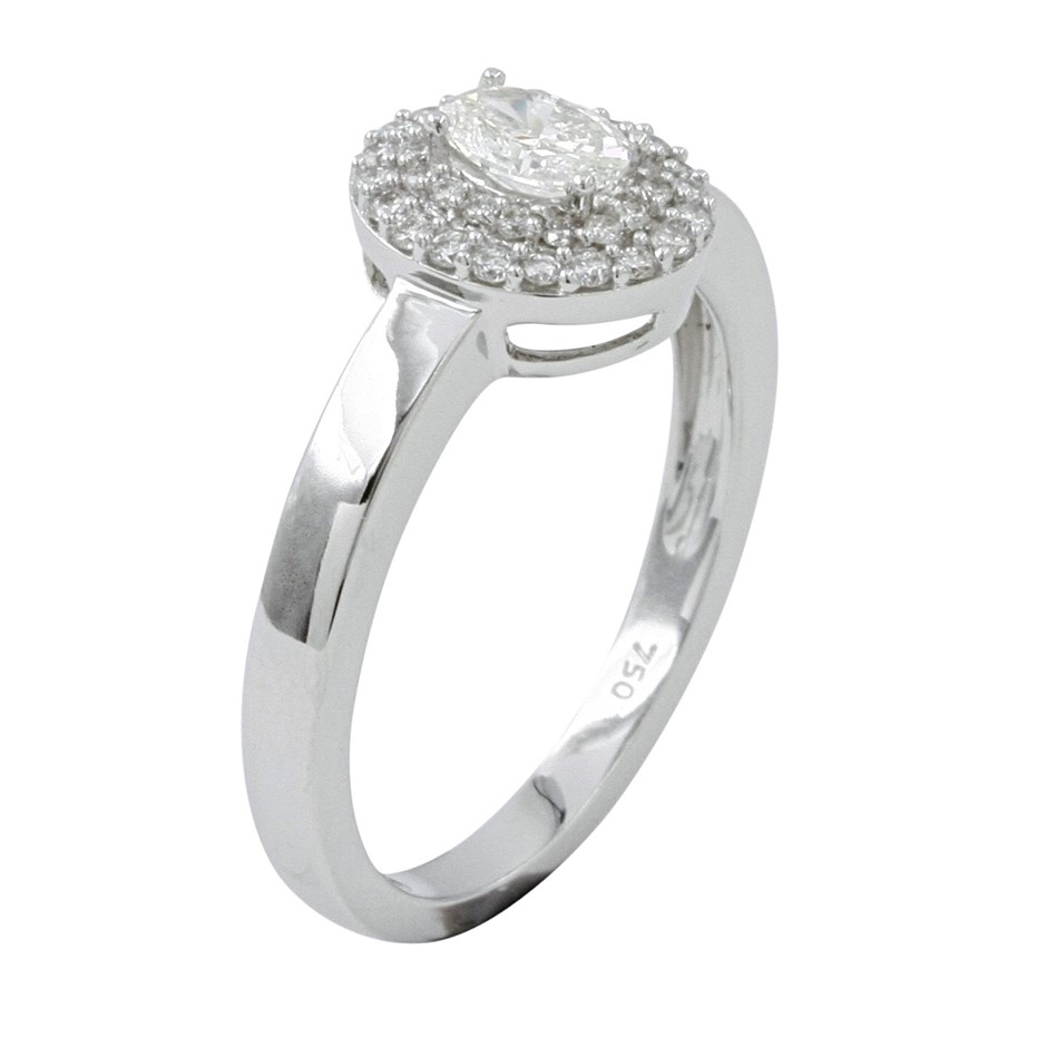 18ct White Gold, 0.48ct Diamond Engagement Ring