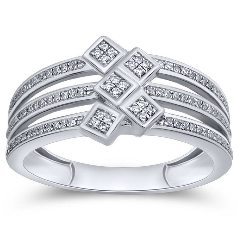 9ct White Gold, 0.15ct Diamond Ring