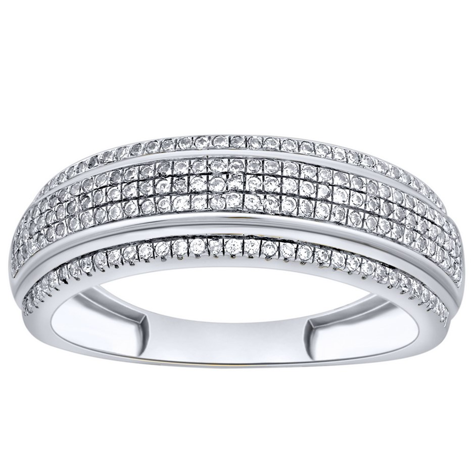 9ct White Gold, 0.26ct Diamond Ring