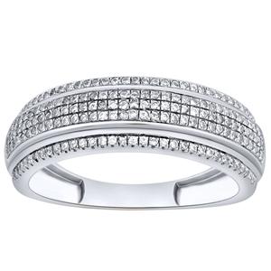 9ct White Gold, 0.26ct Diamond Ring