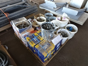A Large Quantity of Assorted Fasteners