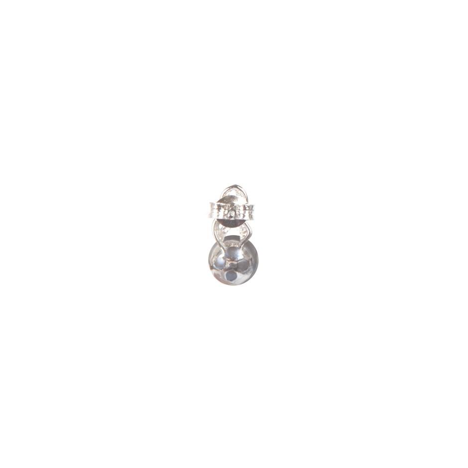 Natural Freshwater Black Pearl & Cubic Zirconia Set Earrings