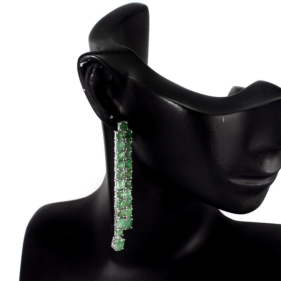 Incredible Genuine Emerald Drop Earrings