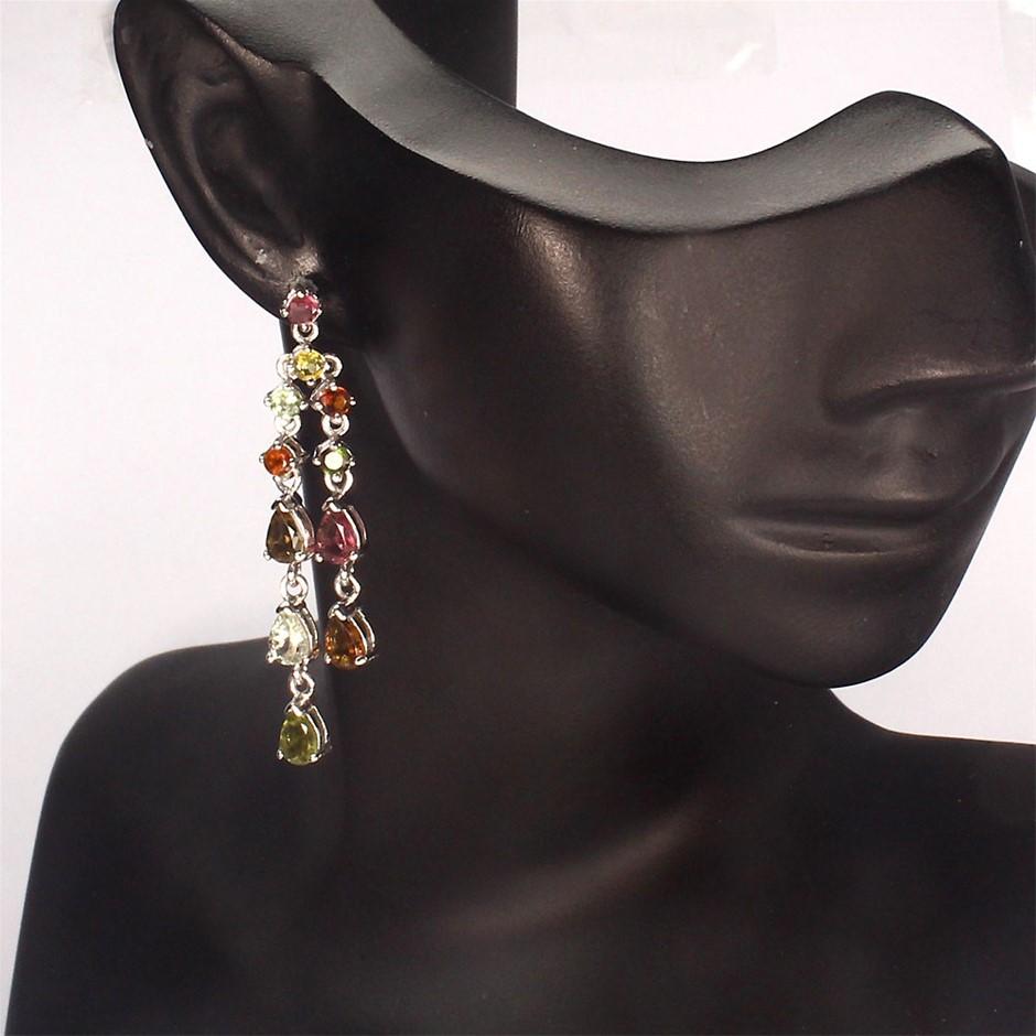 Divine Genuine Tourmaline Drop Earrings