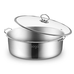SOGA Stainless Steel 28cm Casserole With