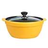 SOGA 3.5L Ceramic Casserole Stew Cooking Pot with Glass Lid Yellow