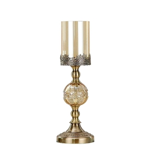 SOGA 42cm Glass Candle Holder Candle Sta