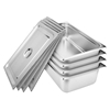 SOGA 4x Gastronorm GN Pan Full Size 1/1 GN 150mm Stainless Steel Tray w/Lid