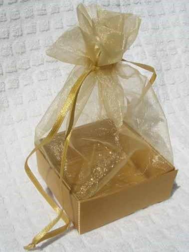 Organza Gift Box Gold