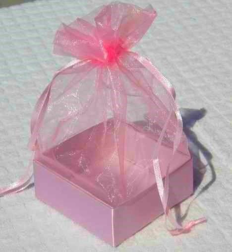 Organza Gift Box Pink