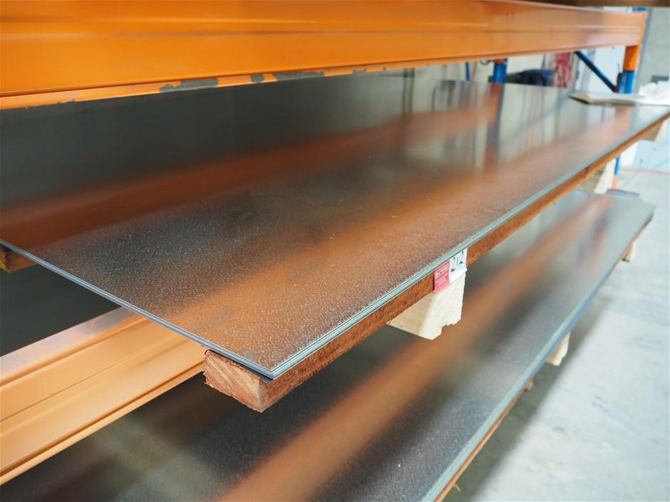 1 x Pallet of Production Stock - Unused Galvanised Sheet Metal