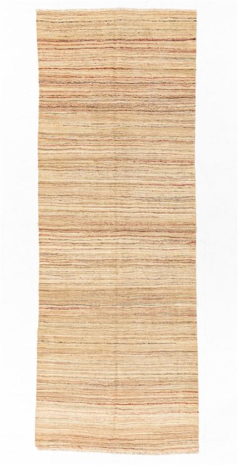 Afghan Modern Fla Weave Kilim Runner Size (cm): 106 x 291