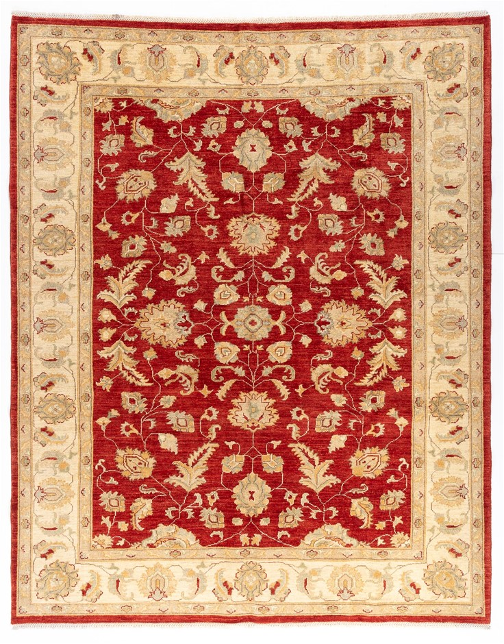 Afghan Hezari Hand Knotted 100% Wool pile Size (cm): 198 x 248