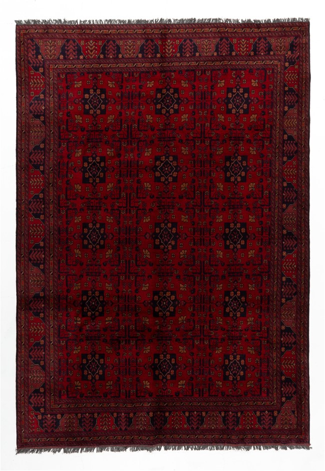 Afghan Khal Mohomadi Hand Knotted 100% Wool Pile Size (cm): 205 x 295