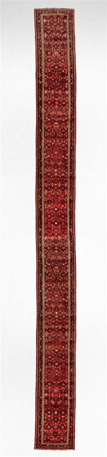 Persian Enjalis Hand Knotted 100% Wool Pile Size (cm): 87 x 650