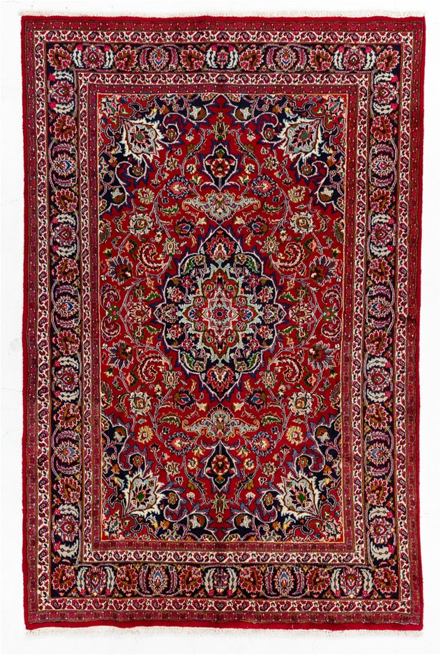 Persian Kashan Hand Knotted 100% Wool Pile Size (cm): 200 x 300
