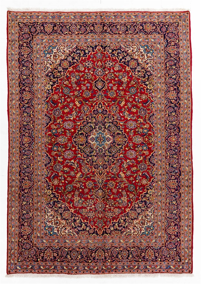 Persian Kashan Hand Knotted 100% Wool Pile Size (cm): 250 x 350