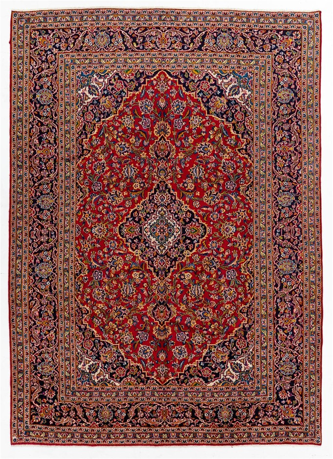 Persian Kashan Hand Knotted 100% Wool Pile Size (cm): 252 x 350