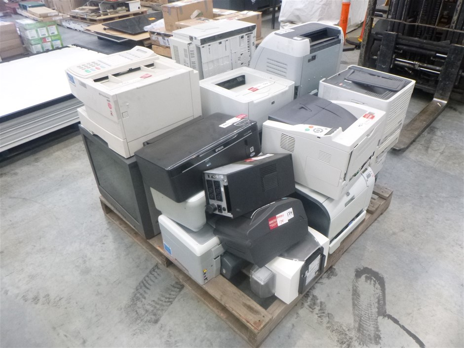 Bulk Lot of Printers & Monitors: EPSON, HP LASERJET, SAMSUNG etc