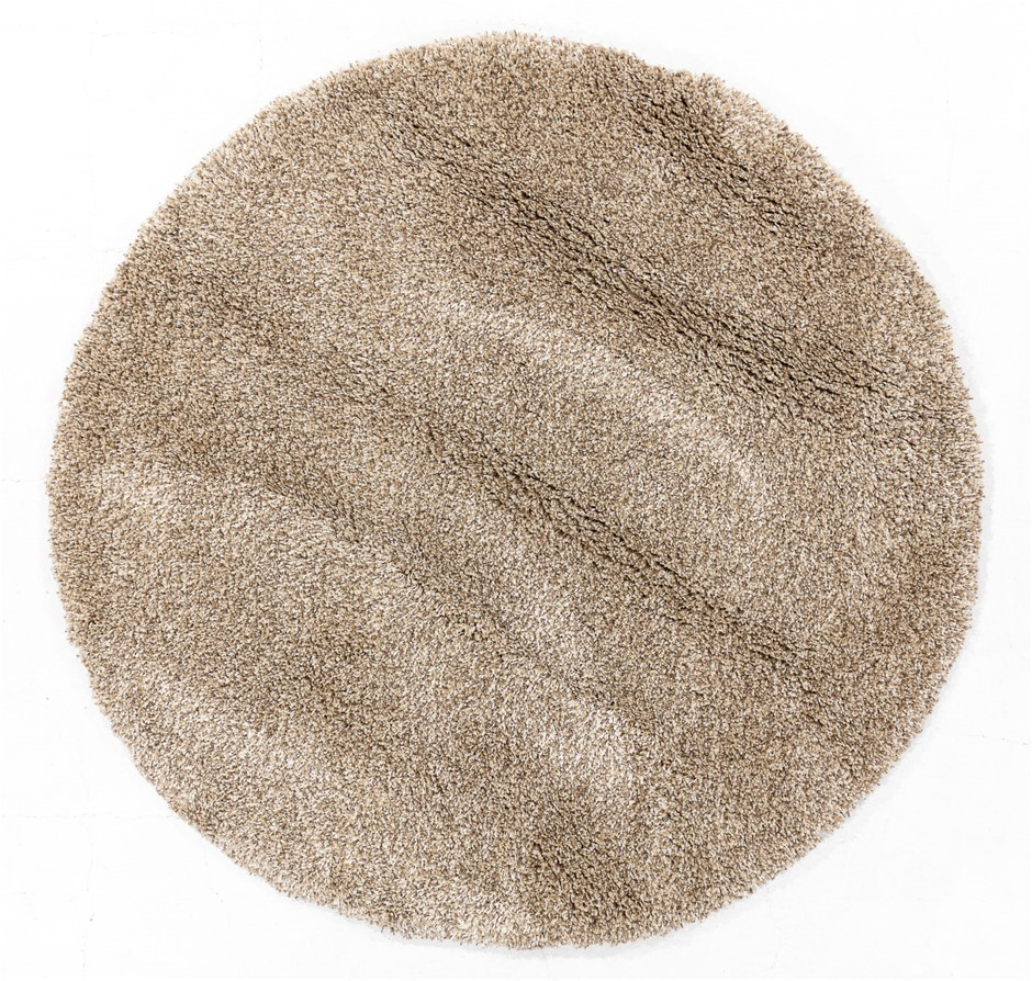 Machine Made Shaggy Pile Circle Floor Rug - Size (cm): 160 x 160