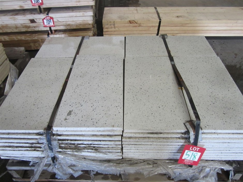 Pallet of 61 Speckled Caesarstone Pavers. 600mm x 300mm x 20mm