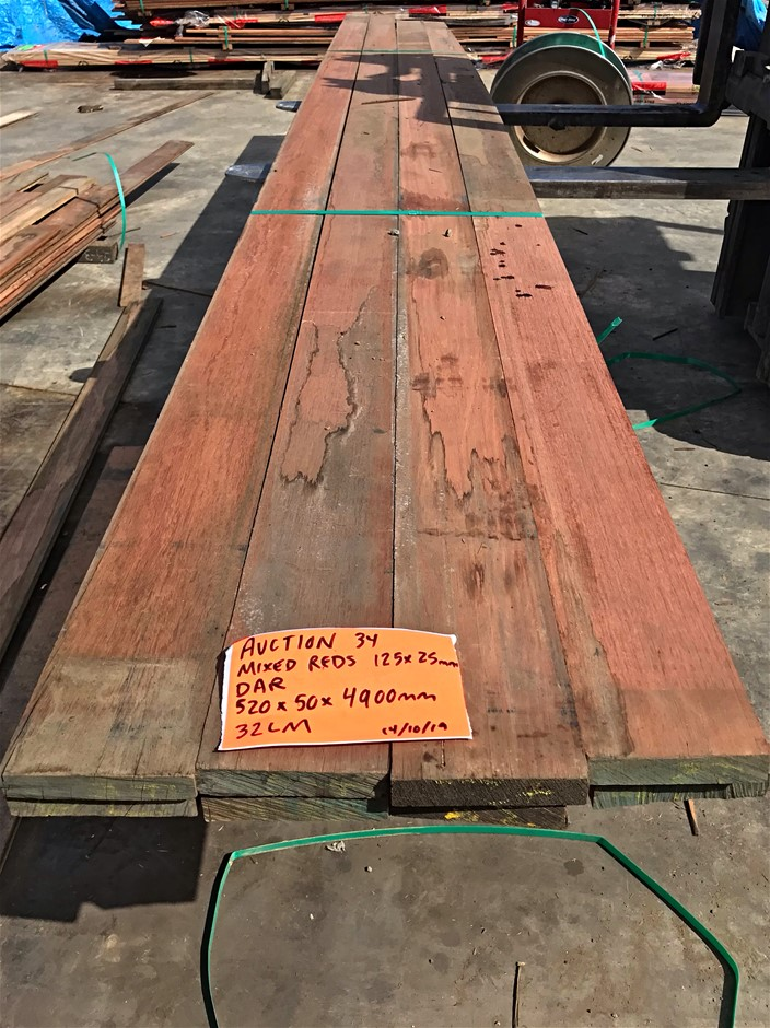 Mixed Red Timber Boards - 125x25mm (32LM)