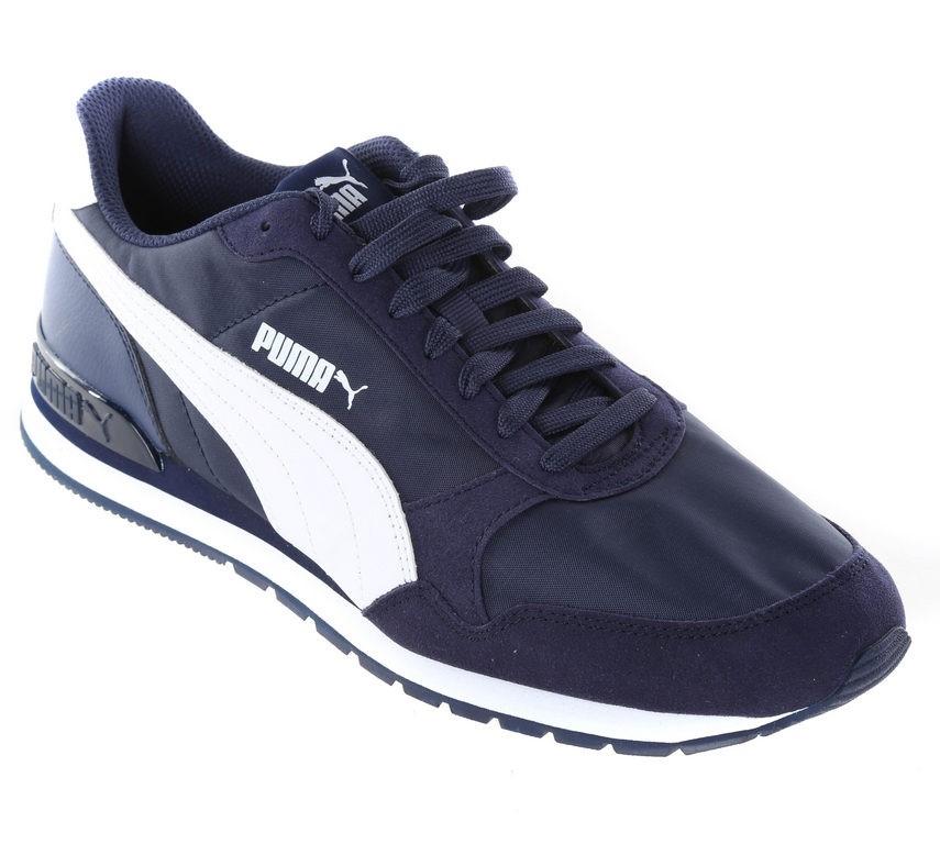 PUMA Men`s Leather & Fabric Sport Shoes, UK Size 10, Soft
