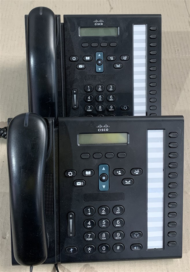 2 x Cisco CP-6961-C-K9 Unified 12-line IP Phone with Anti-Glare LCD Display
