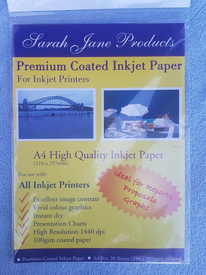 50 Pack X A4 High quality Inkjet paper, Premium Coated inkjet paper , f