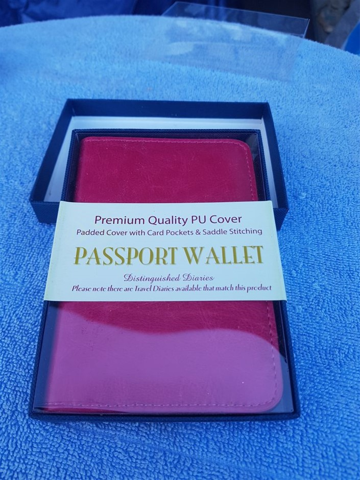 10 X Passport wallet, premium quality PU cover, padded cover with card