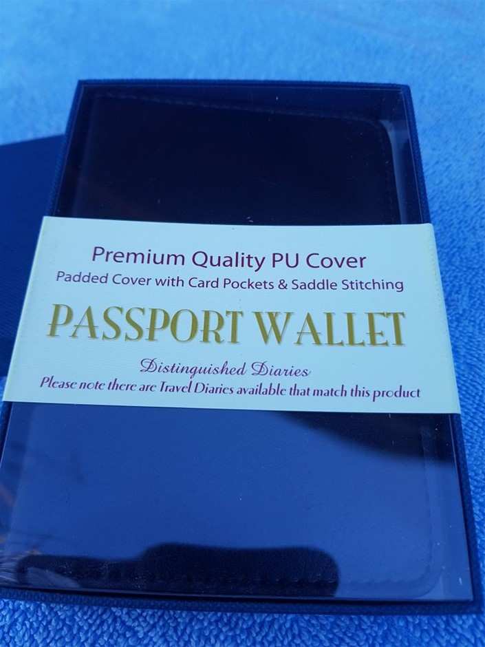5 X Passport wallet, premium quality PU cover, padded cover with card p