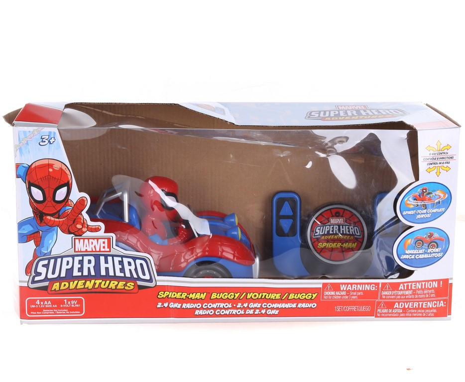 MARVEL Super Hero Adventures Spiderman Buggy Toy with Radio Control. N.B. D