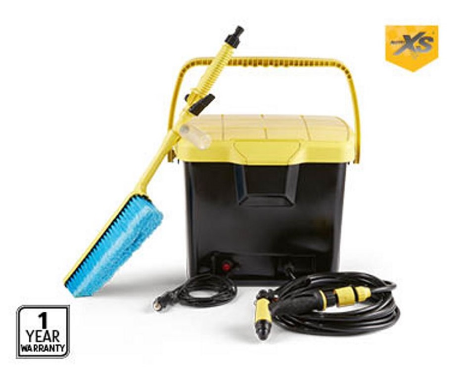AUTOXS Portable Pressure Washer w/ Built-in 12V DC Pump, 16L Water Tank, 24